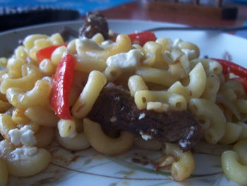 Thai Inspired Beef and Pasta from www.chocolatemoosey.com