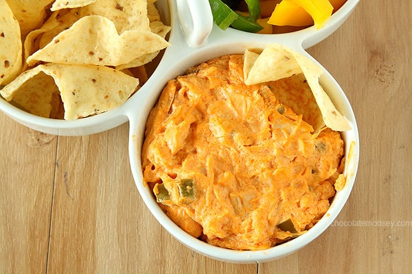 Buffalo Chicken Dip | www.chocolatemoosey.com