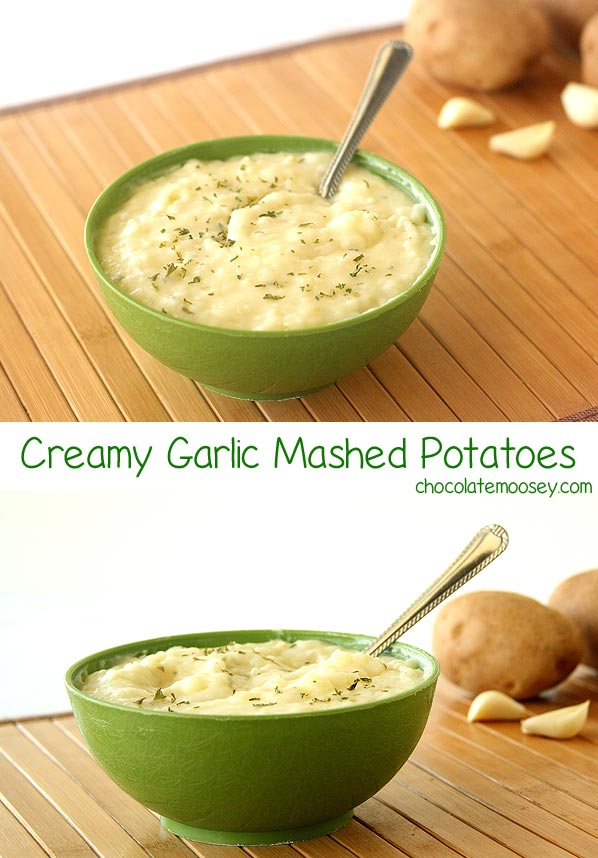 Creamy Garlic Mashed Potatoes for a super easy side dish