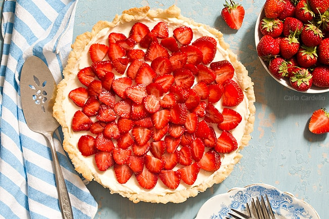 Strawberry Cream Cheese Tart is like eating a strawberry pie and cheesecake in one bite.