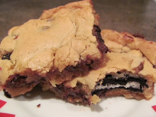 Oreo Stuffed Blondies