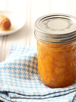 Small Batch Peach Honey Jam made with no pectin
