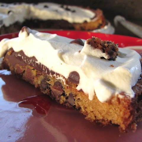Chocolate Chip Cookie and Cream Tart