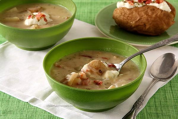 Baked Potato Soup   www.chocolatemoosey.com