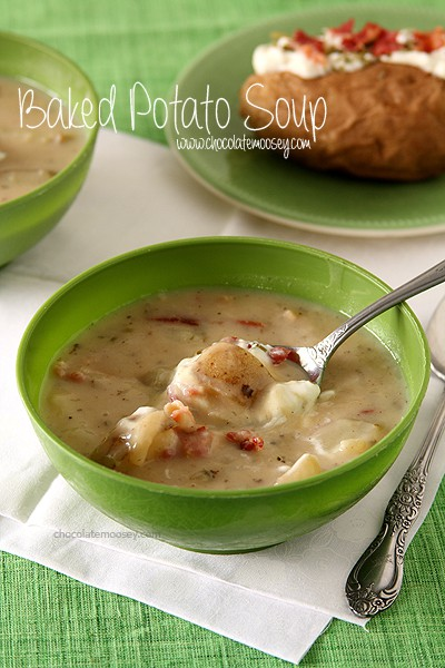 Baked Potato Soup | www.chocolatemoosey.com