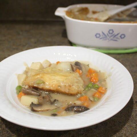 Portabella Mushroom Pot Pie for #SundaySupper