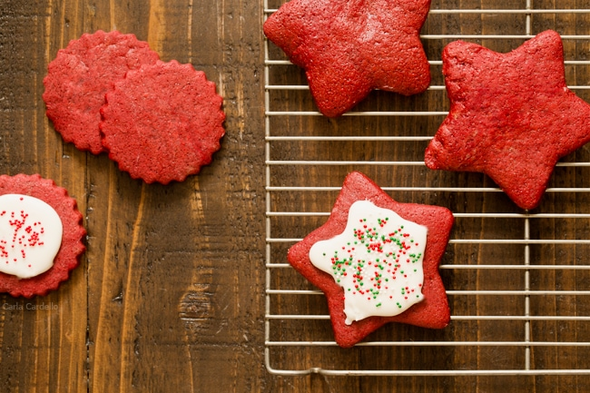 Red Velvet Sugar Cookie Cut Outs
