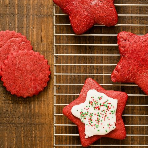 Red Velvet Sugar Cookie Cut Out Recipe