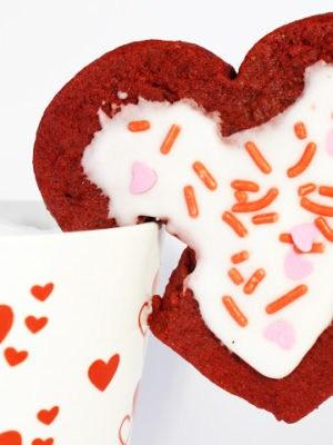 Red Velvet Mug Cookies