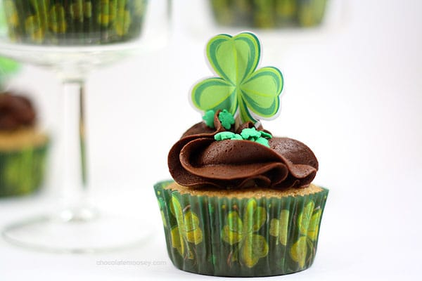Irish Cream Cupcakes | www.chocolatemoosey.com
