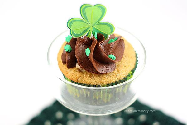 Irish Cream Cupcakes | www.chocolatemoosey.com