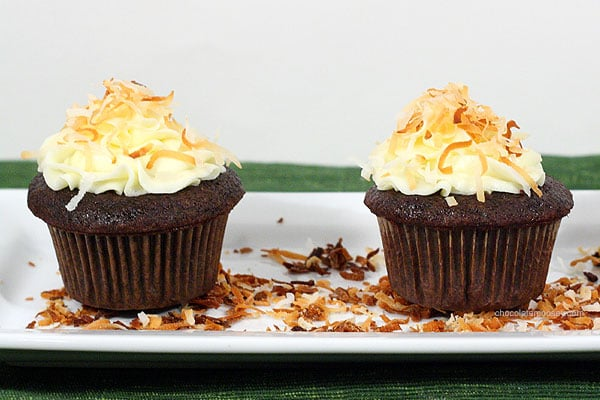 Award Winning Chocolate Coconut Cupcakes   www.chocolatemoosey.com