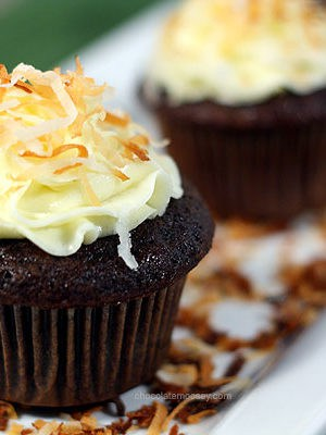 Award Winning Chocolate Coconut Cupcakes | www.chocolatemoosey.com