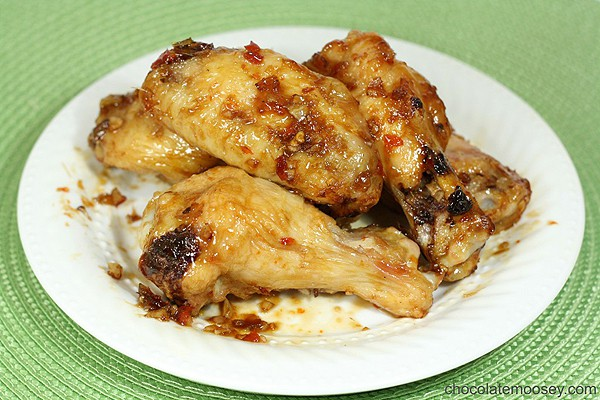 Baked Sweet Chili Chicken Wings