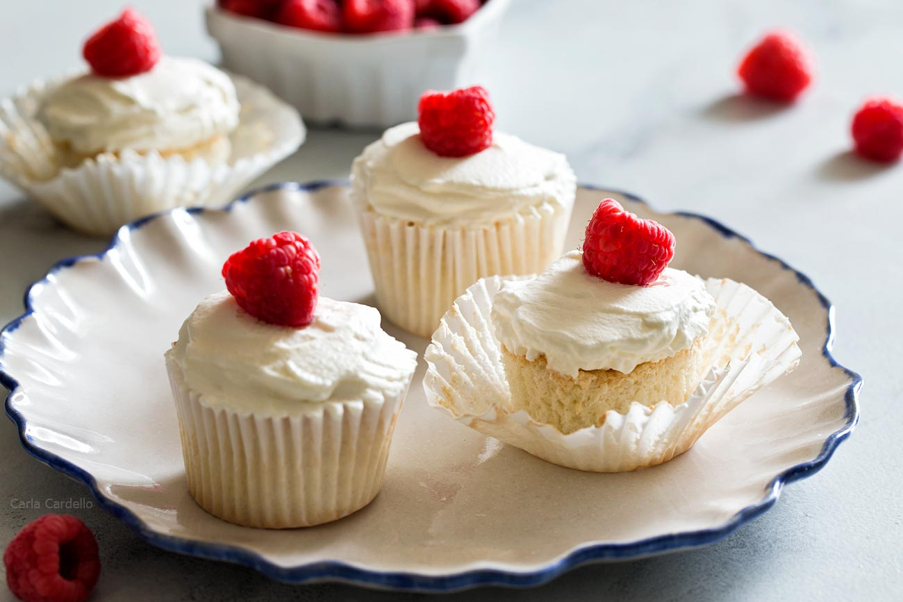 Small Batch Angel Food Cupcakes uses leftover egg whites