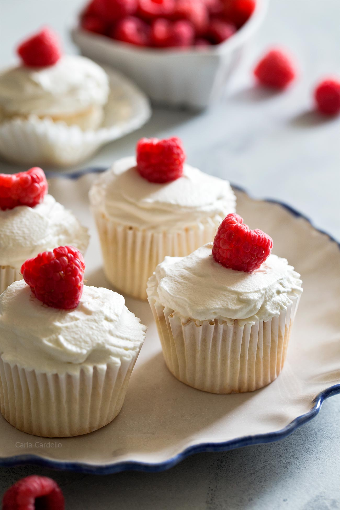 Small Batch Angel Food Cupcakes With Homemade Whipped Cream