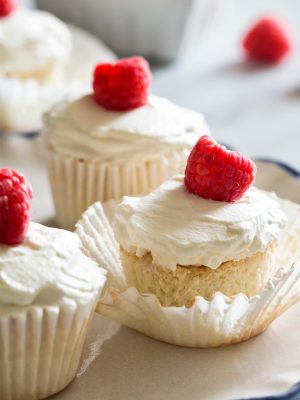 Small Batch Angel Food Cupcakes