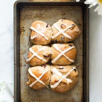 Small Batch Hot Cross Buns