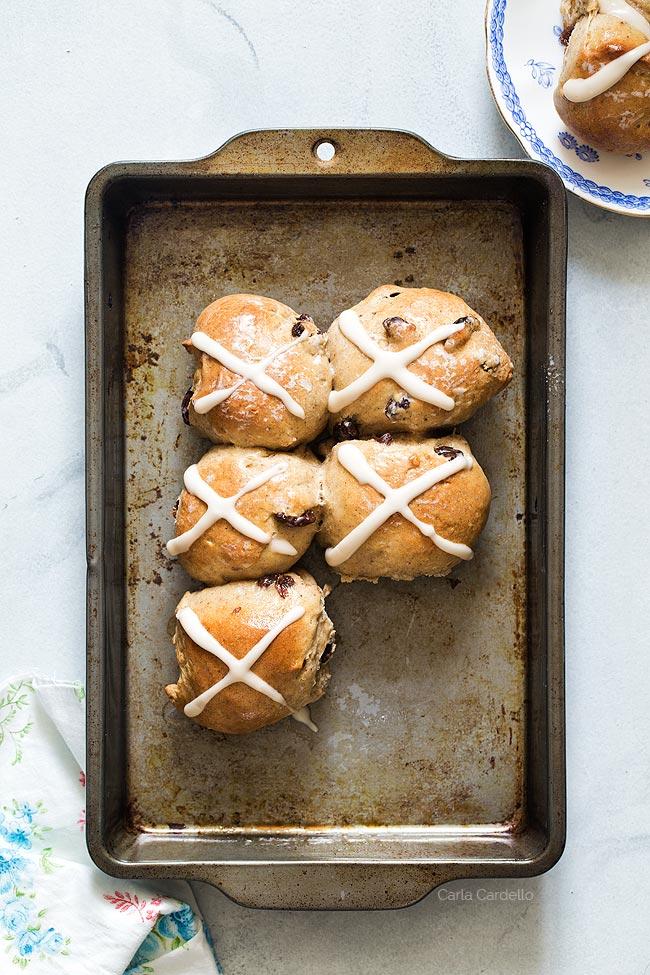 Small Batch Hot Cross Buns recipe