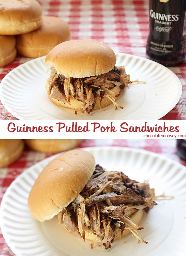 Guinness Pulled Pork Sandwiches made with beer