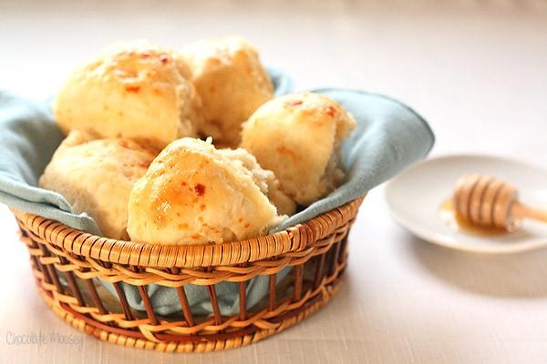 Fluffy, warm Honey Butter Dinner Rolls from scratch