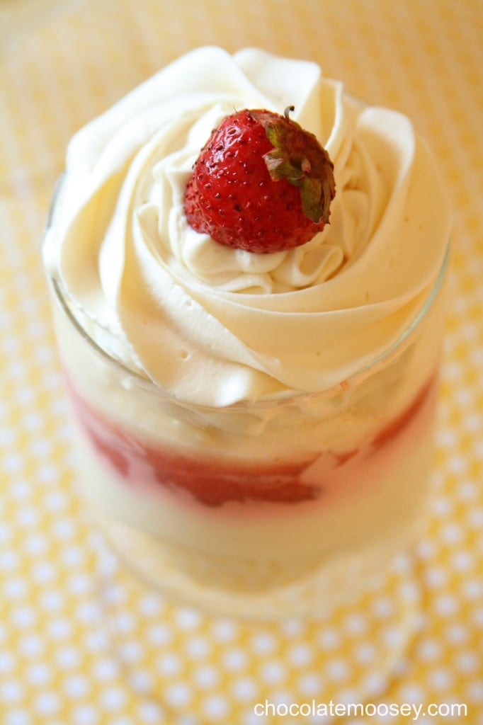 Strawberry Cheesecake Parfaits Recipe — Dishmaps