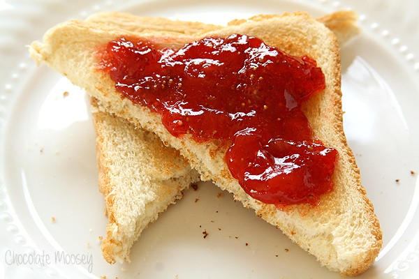 Small Batch Strawberry Jam with no pectin added