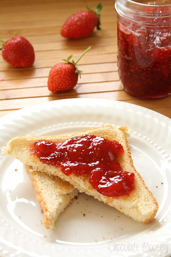 Small Batch Strawberry Jam with no pectin added