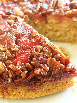Award-Winning Strawberry Pecan Upside Down Spice Cake