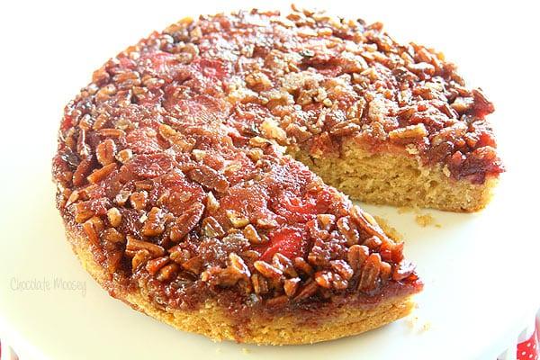 Award Winning Strawberry Pecan Upside Down Spice Cake