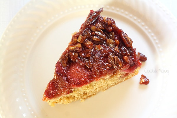Award Winning Strawberry Pecan Upside Down Spice Cake