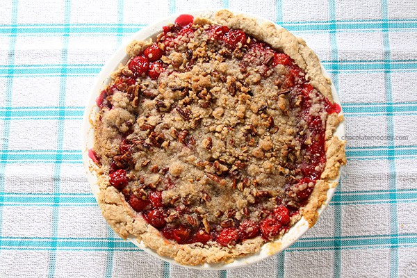 Cinnamon Pecan Cherry Pie | www.chocolatemoosey.com