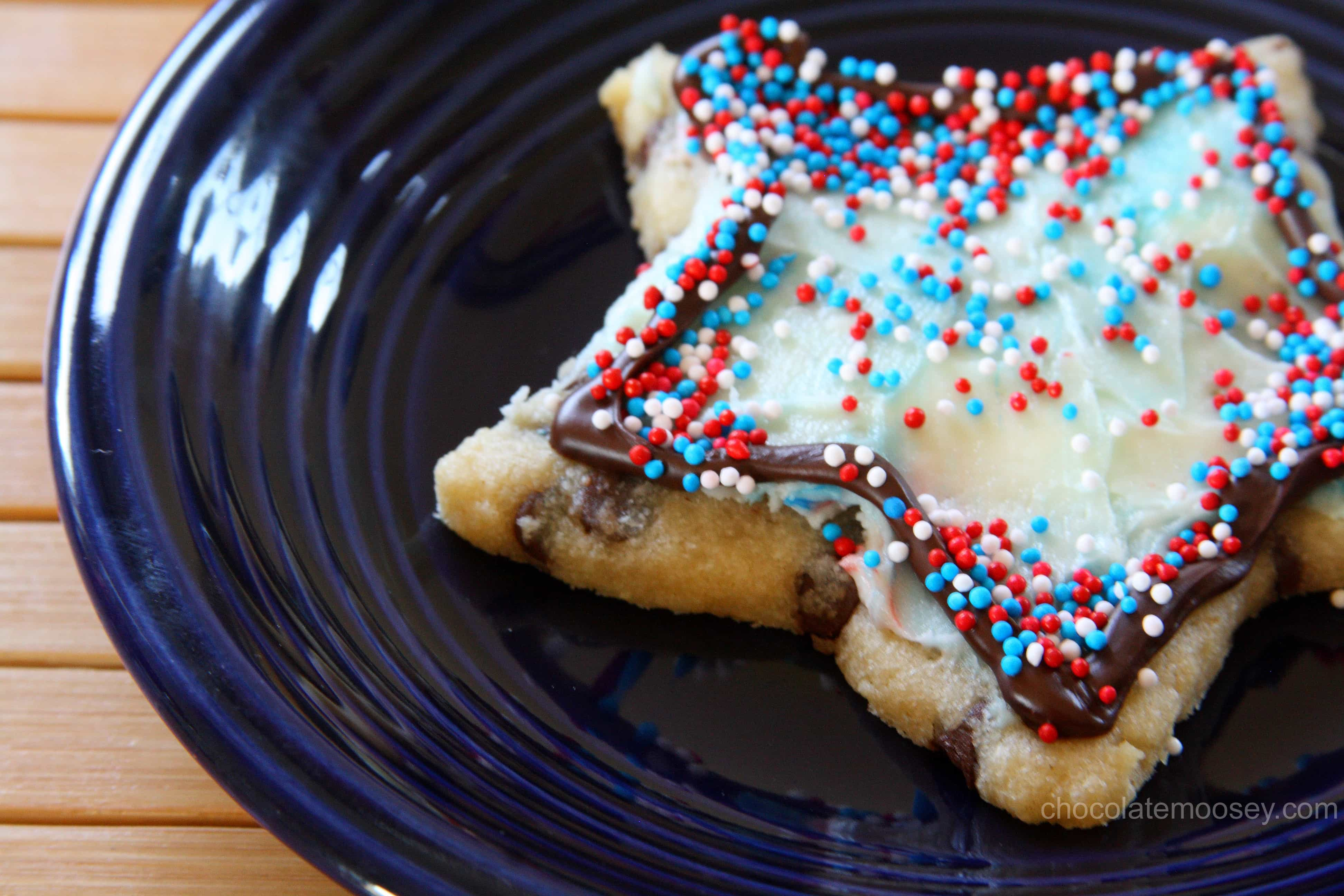Chocolate Chip Cut Out Cookies made with cookie cutters