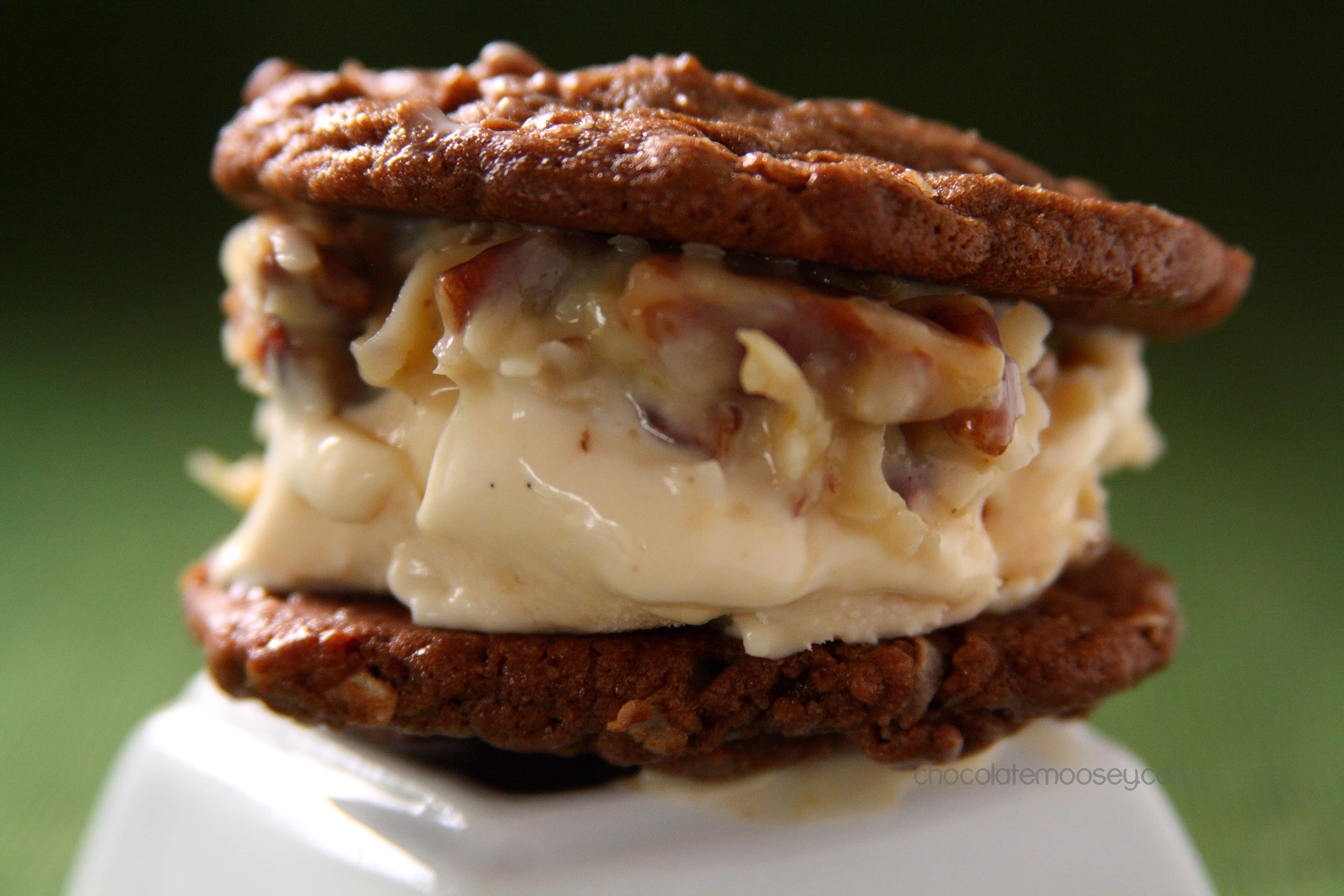 German Chocolate Ice Cream Sandwich Cookies from www.chocolatemoosey.com