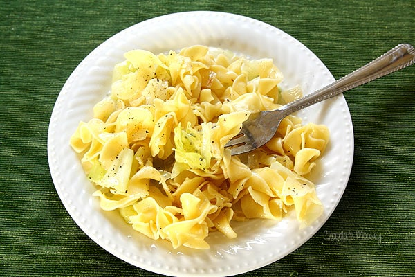 Haluski (Cabbage and Noodles) is a Pittsburgh favorite for Lent
