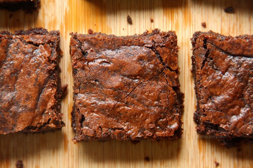 One-Pot Fudgy Raspberry Cocoa Brownies from www.chocolatemoosey.com