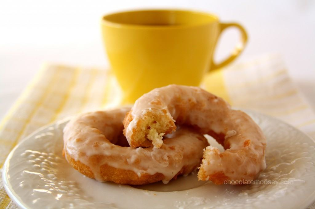 Double Lemon Glazed Doughnuts