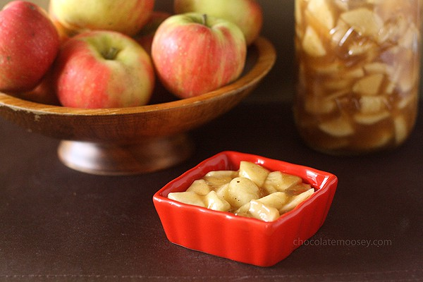Homemade Apple Pie Filling made with fresh apples