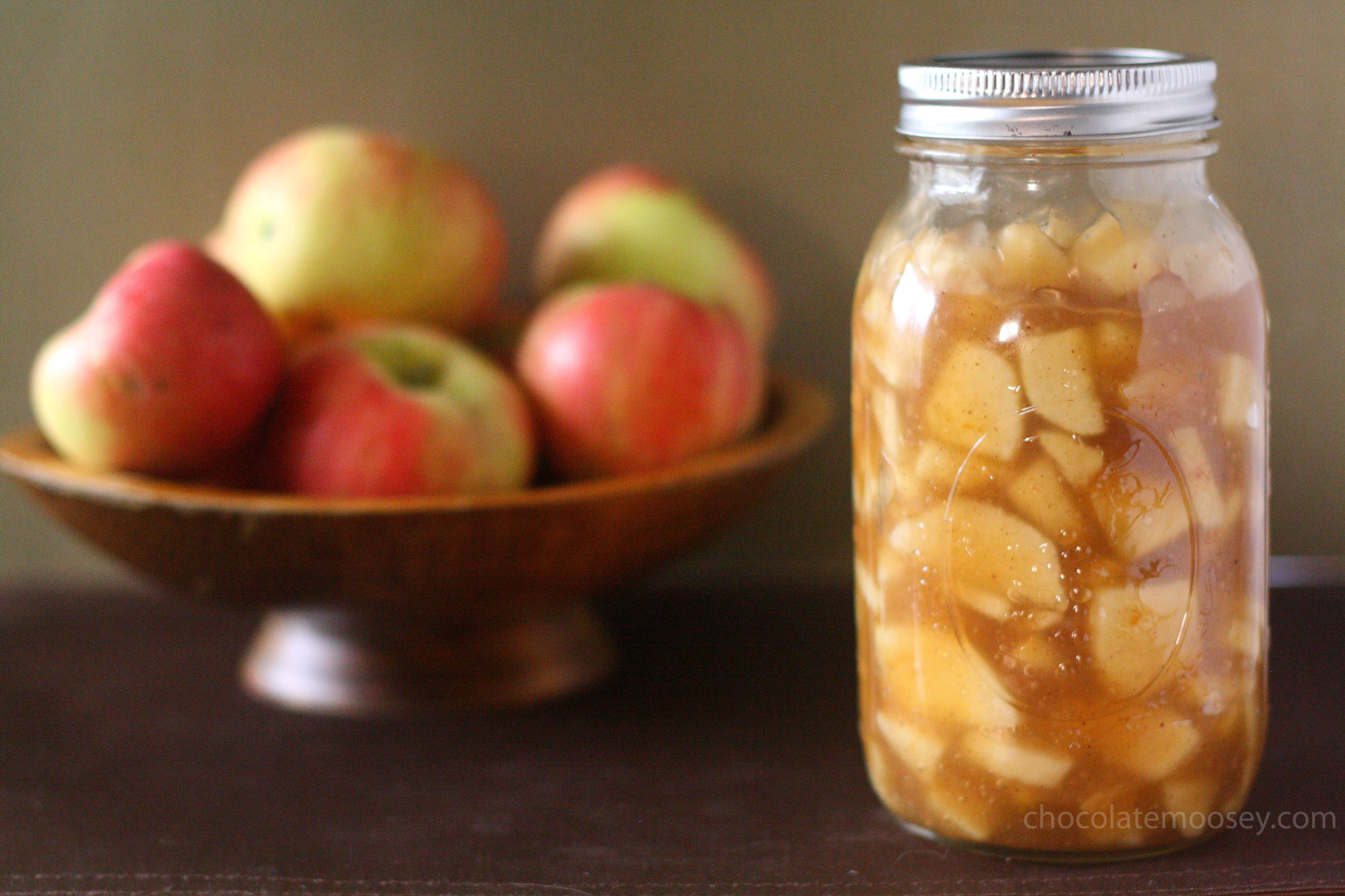 Homemade Apple Pie Filling made from scratch without corn syrup