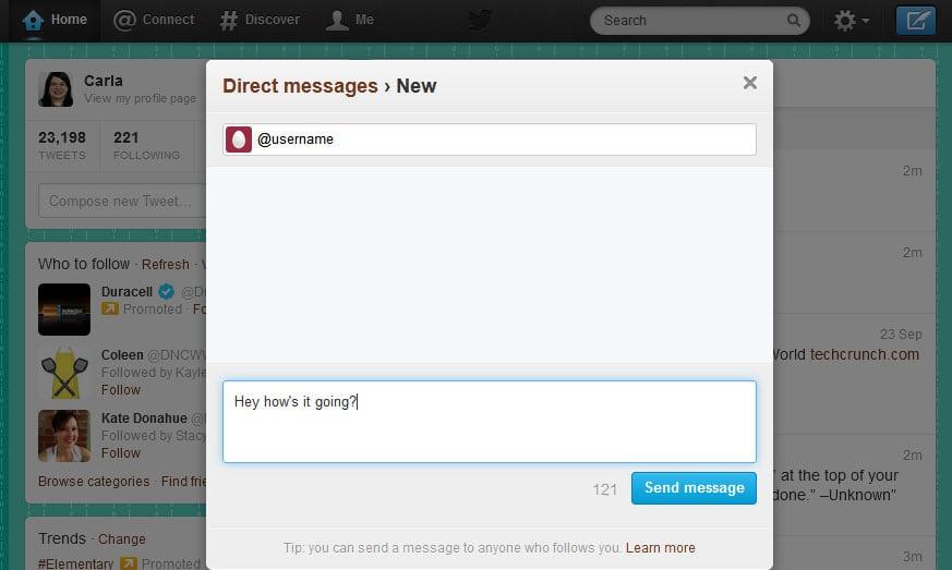 Understanding Twitter - Direct Message