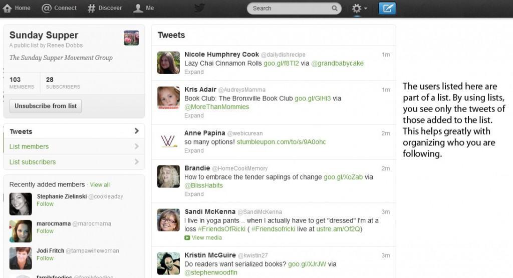 Understanding Twitter - Lists