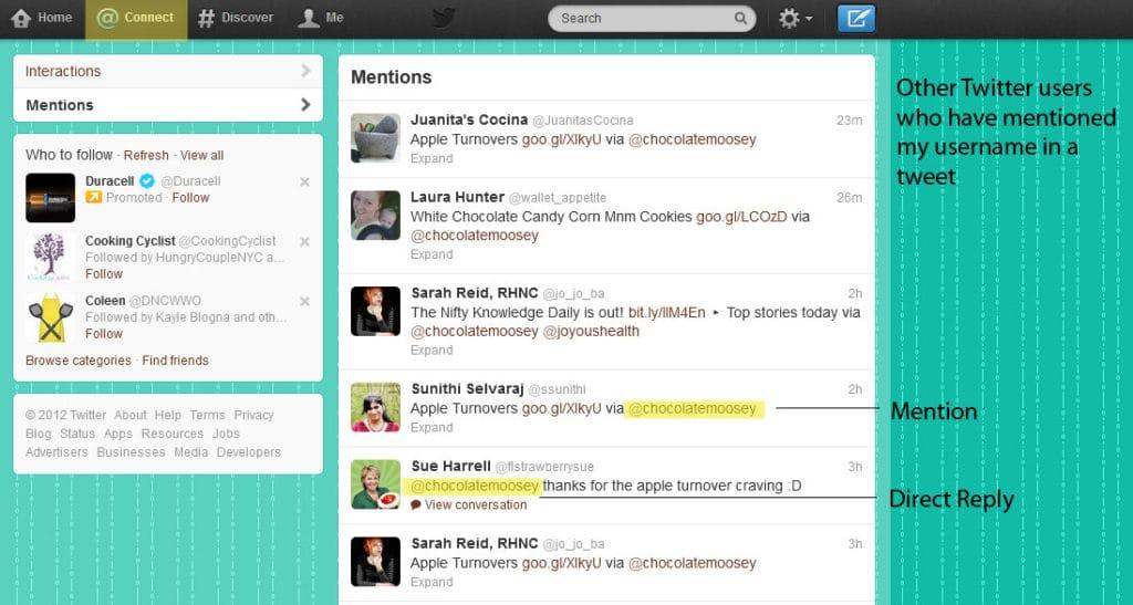 Understanding Twitter - Mentions