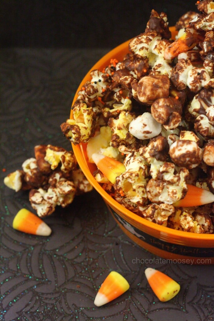 Halloween Candy Corn Chocolate Popcorn
