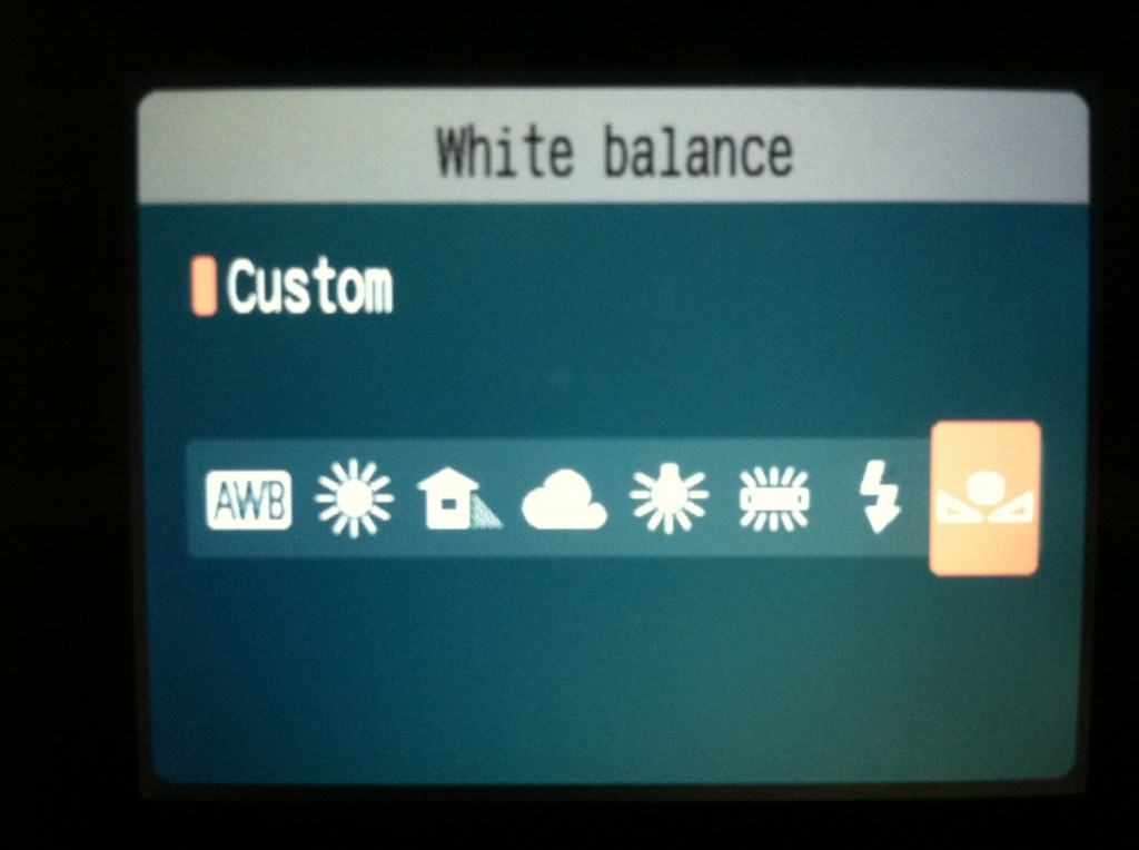 how to use custom white balance