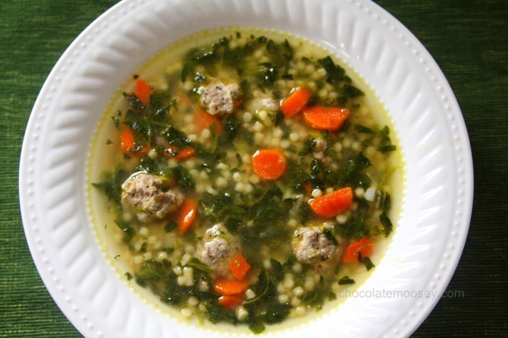 Italian Wedding Soup from www.chocolatemoosey.com