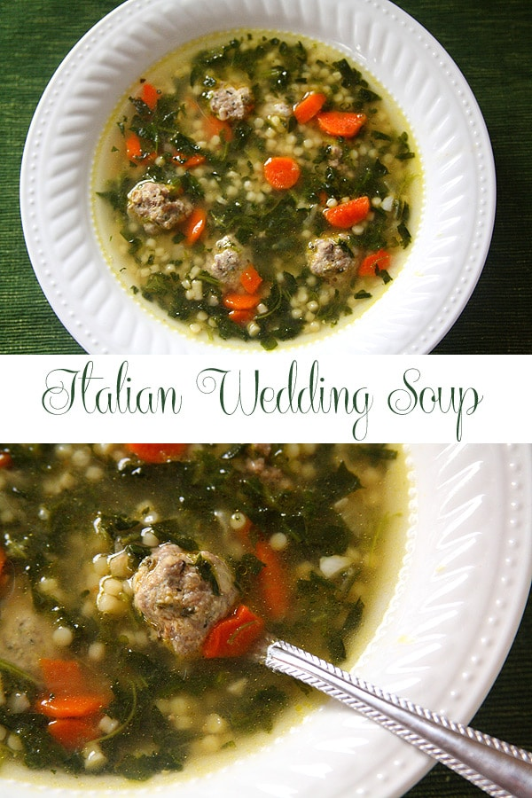 Italian Wedding Soup - a hearty soup for a cold day