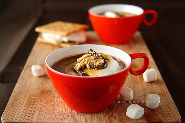 Smores Hot Cocoa | www.chocolatemoosey.com