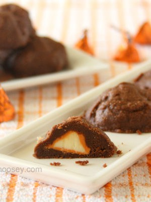 Stuffed Pumpkin Spice Kiss Cookies