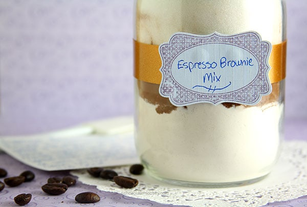 "Espresso Brownie Mix with ""Desserts In Jars"" Cookbook Review and Giveaway"