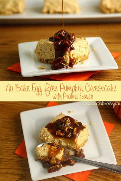 eggless No Bake Pumpkin Cheesecake Bars in 8x8 pan